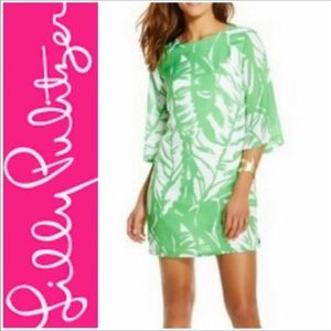 Lilly Pulitzer Boom Boom Green Shift Dress Floral